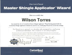 CertainTeed Certification
