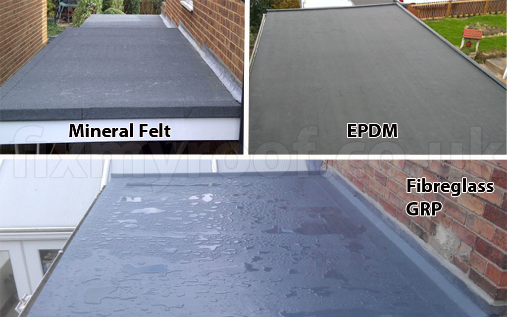 Install flat roof wtorres roofing company for Types of roof covering materials